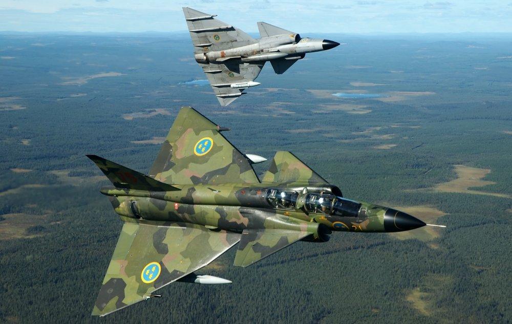 Saab 37 «Viggen». Многоцелевой истребитель. (Швеция)