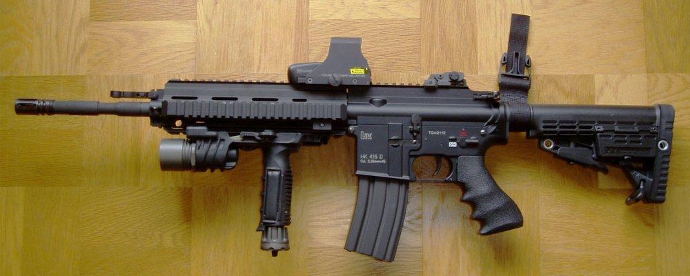 HK416. Штурмовая винтовка. (Германия)