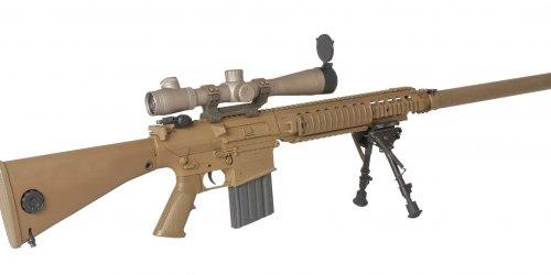 M110. Полуавтоматическая снайперская винтовка. (США)