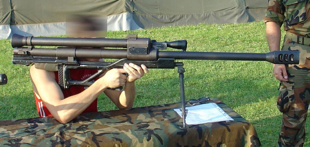 RT-20. Крупнокалиберная снайперская винтовка. (Хорватия)