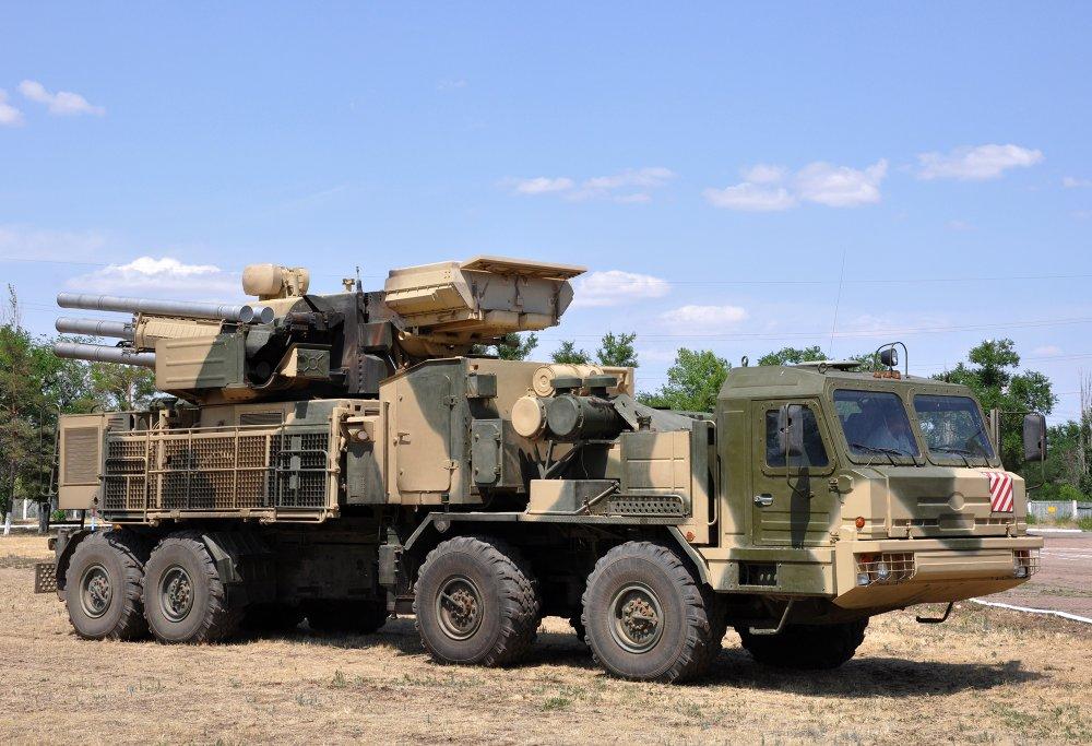 """Панцирь-С1"" на базе шасси БАЗ-6309 (""Вощина-1"")."