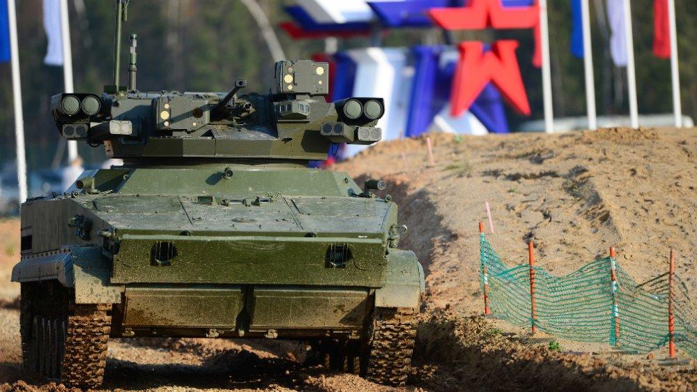 """Что известно о боевом роботе """"Удар"""" на базе БМП-3"""