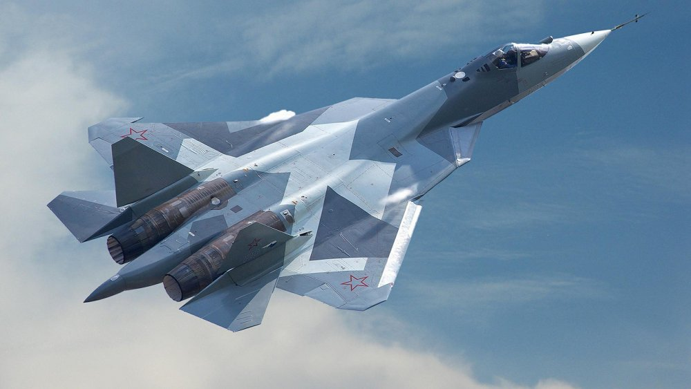 """Истребитель Су-57 за рубежом назвали """"убийственно красивым"""""""