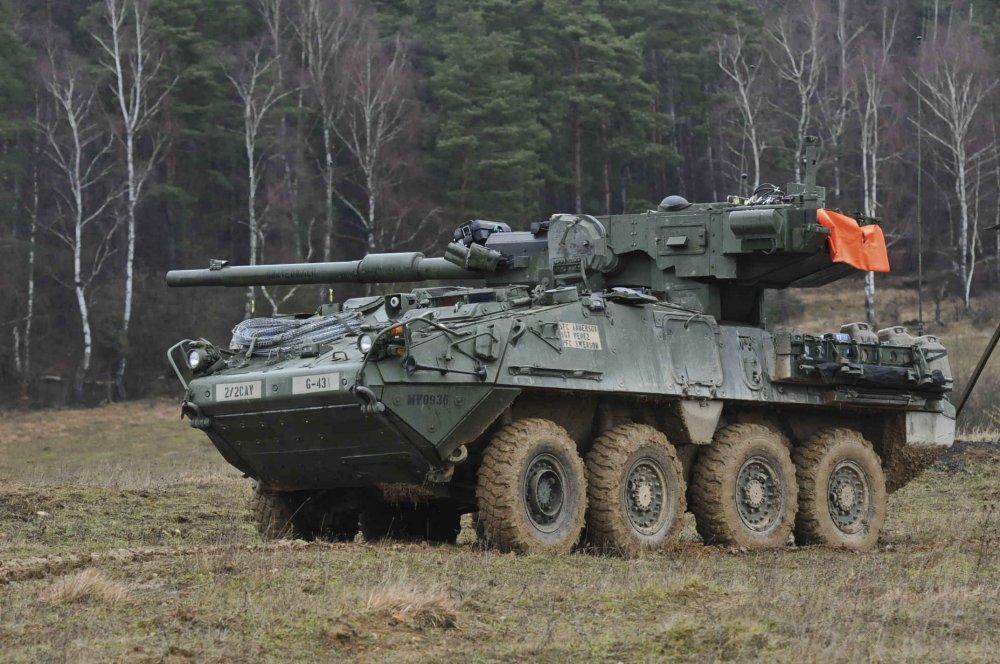 """Американские """"колесные танки"""" M1128 на базе Stryker снимут с вооружения"""